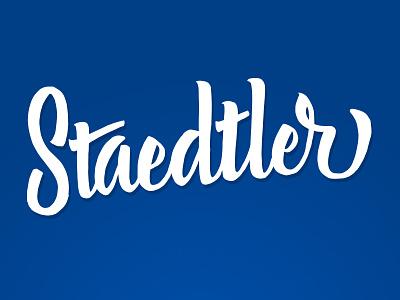 Staedtler Brush Pen lettering type typography brush script auto traced