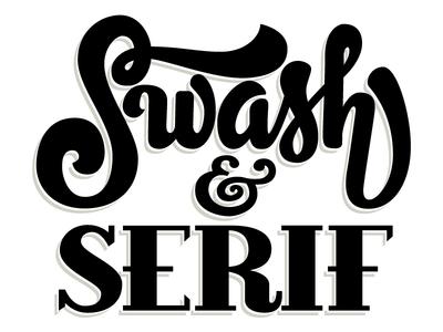Swash & Serif logo wordmark lettering type serif swash hand lettering vector
