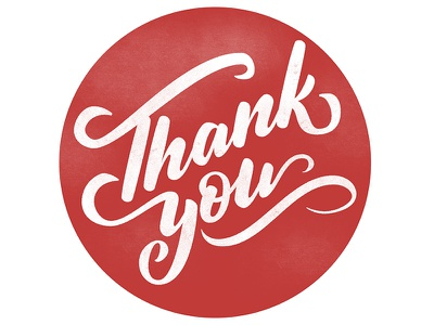 Swashy Thank You swash type lettering vector hand lettering