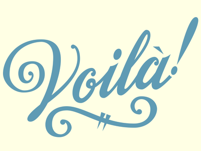 Voilà Lettering lettering type typography vector hand lettering