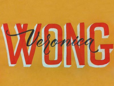 Veronica Wong lettering type skillshare paint pens