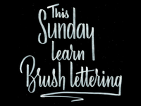 Learning Brush Lettering