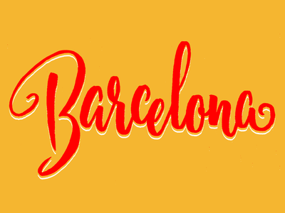 Barcelona brush script typography type lettering