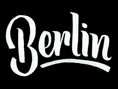 Berlin germany europe brush script typography type lettering