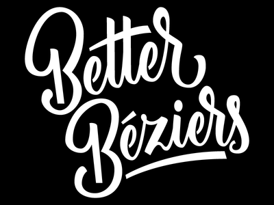 Better Béziers type illustrator lettering vector bézier ligatures workshop
