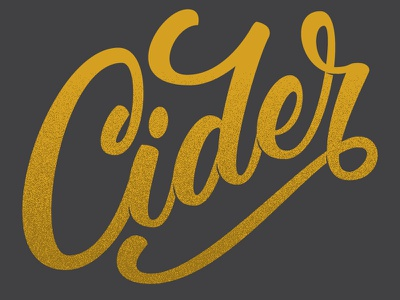 Cider vector hand lettering brush script texture type lettering