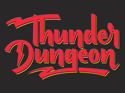 Thunder Dungeon Wordmark workmark type logo custom typography lettering