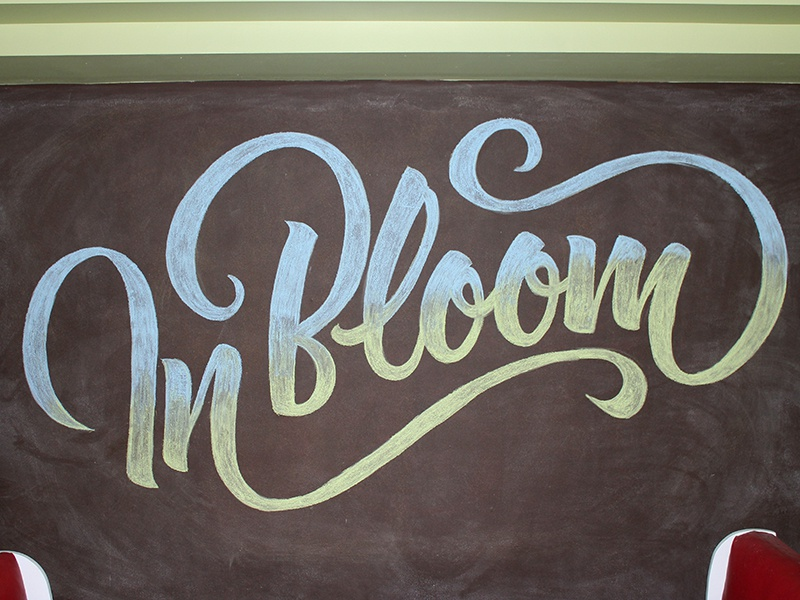 In Bloom gradient typography type lettering chalk lettering