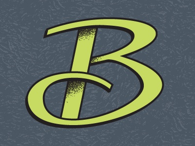 Give me a B lettering type glyph alphabet