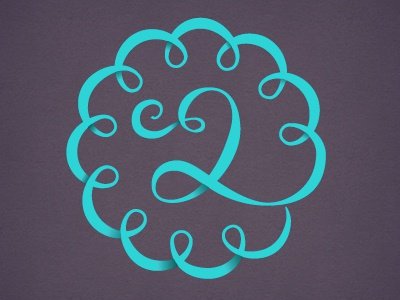 2 frilly lettering type frilly number numeral