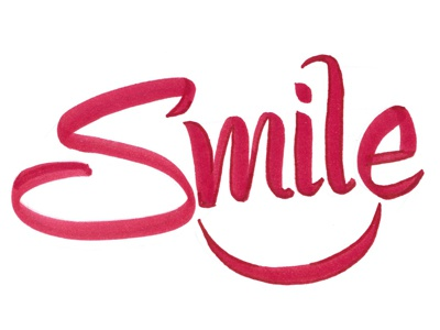 Smile, it's good for you brush pen tombow practice smile letters lettering