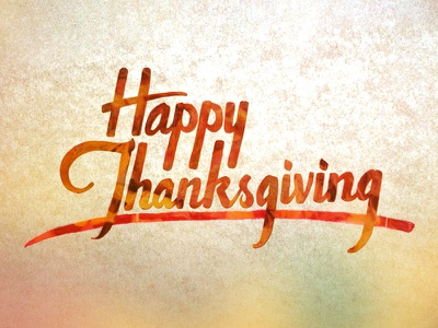 Happy Thanksgiving lettering type brush lettering thanksgiving turkey fall colours