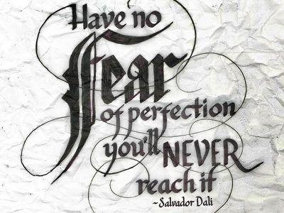 Have no Fear messy calligraphy lettering type