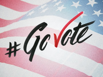 Have you voted yet? lettering type typography go vote govote brush lettering tombow