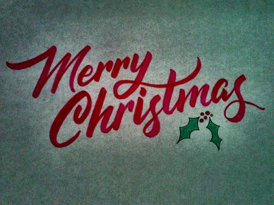 Merry Christmas! lettering type typography christmas