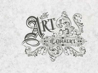 the art of commerce typography vector lettering vintage branding design retro badge logo design illustrator illustration