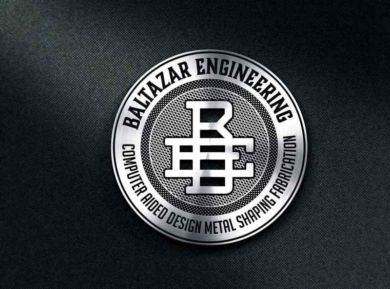 Baltazar Engineering Matalic Badge Design badge lettering vintage branding logo design illustration retro badge logo design illustrator