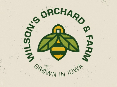 Wilson's Orchard & Farm Rebrand logomark logo design logo branding