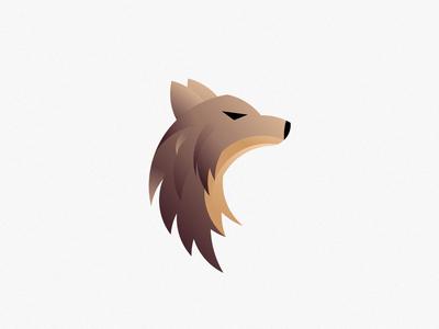 Wolf minimal vector icon brown ufa wolf illustration logo branding design cartoon animation