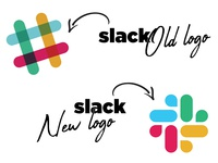 New vs Old Slack LOGO