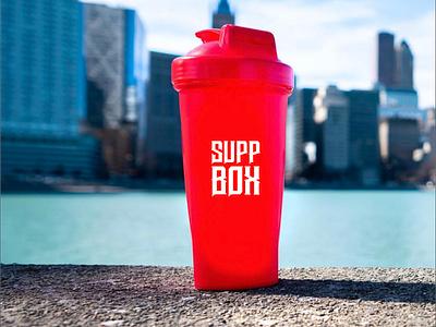 SUPP BOX Logo design illustration typography mobile app branding logo addy instagram banner design graphic fitness vector graphic  design creative love design logodesign