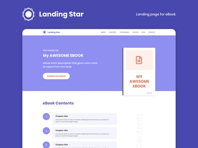 eBook Landing Page webdesign web templates ebook digital marketing landing design landing page landingpage ui