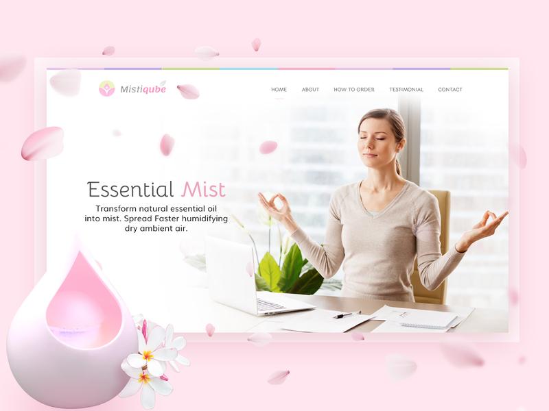 FREE PSD (premium) Wellness / relaxation Theme Website relaxation yoga wellness pink website free psd mockup ui web design website design oil diffuser
