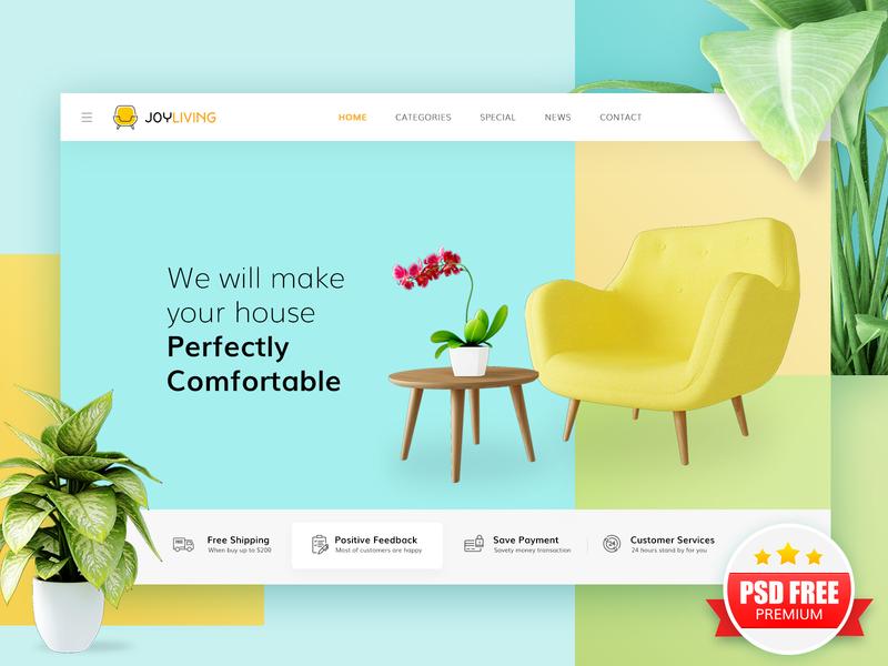 Sofa / Furniture Theme  e-CommerceDesign sofa furniture website free psd web design free website template free psd template free psd website design free psd mockup e-commerce design