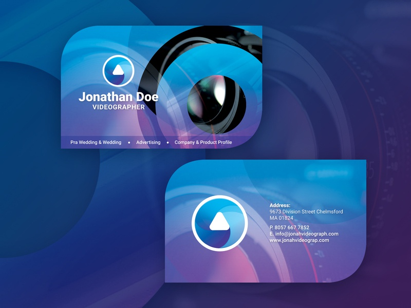 Videographer or Cameramen or Video Maker Business Card video maker photographer videographer businesscard free psd