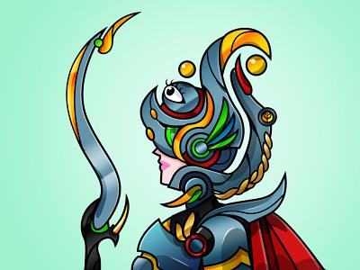 Easrich Woman Holy knight #S1U1 mechawarrior characterdesign polygonnfts