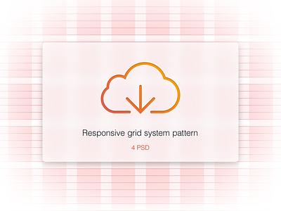 4 Responsive Grid System PSD responsive grid gridsystem psd form ui menu pattern line work bootstrap