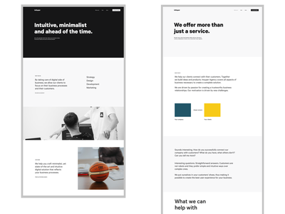 Digital Agency Website ux branding web beauty figma ui elegant design design clean design clean