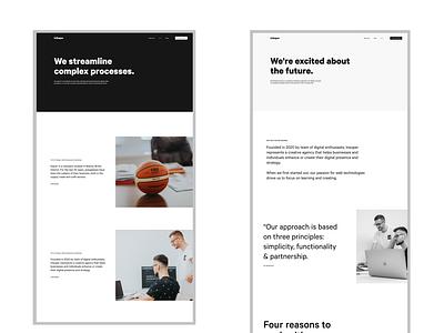 Digital Agency Website ux website beauty figma ui focus elegant design design clean design clean