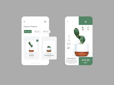 Plant Tinder - UI Challenge designslicesuichallenge beauty designer uichallenge designslices ui elegant design focus clean design clean website design