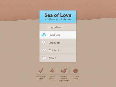 Sea of Love - navigation & icons