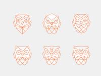 Owl symbol variations 1