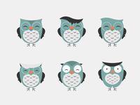 Owl symbol variations 2