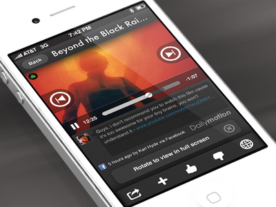 Vodio for iPhone - video screen