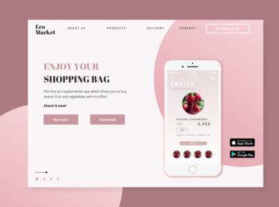 Landing page. EcoMarket App