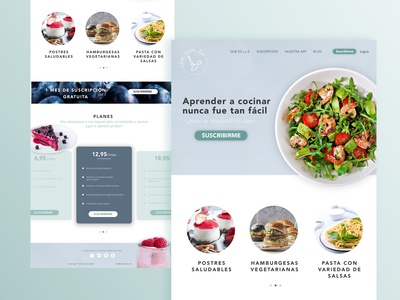 Landing page for subscription system