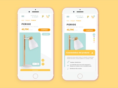 Mobile version about a single product page - Deco Inspiration single page website single page product page mobile app design single product page product ecommerce ecommerce business ecommerce shop mobile mobile app mobile design mobile ui ecommerce design ux design ux ui design ui ecommerce app app