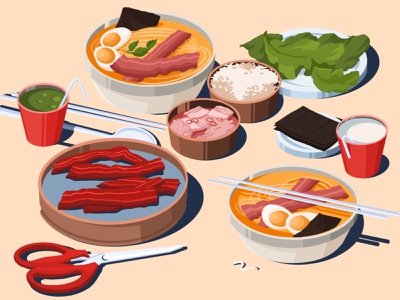 Favorite food drink illustration art artwork art illustration kitchen food illustration rice matcha soy egg noodles ramen asian food food