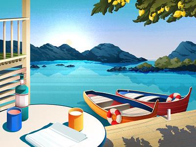 Relax juice lemon relax boat ocean vacation summer
