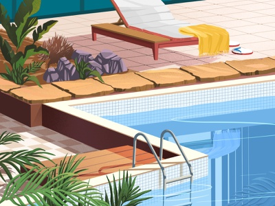 Pool water chill relax summer swimming pool
