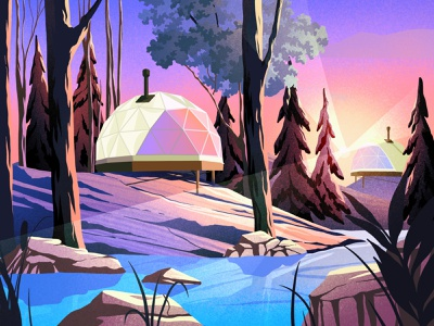 Bubble house relax architecture sunset landscape nature lake house houses