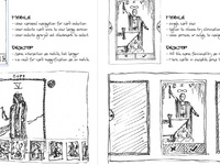 Tarot Interface Wireframe Sketches