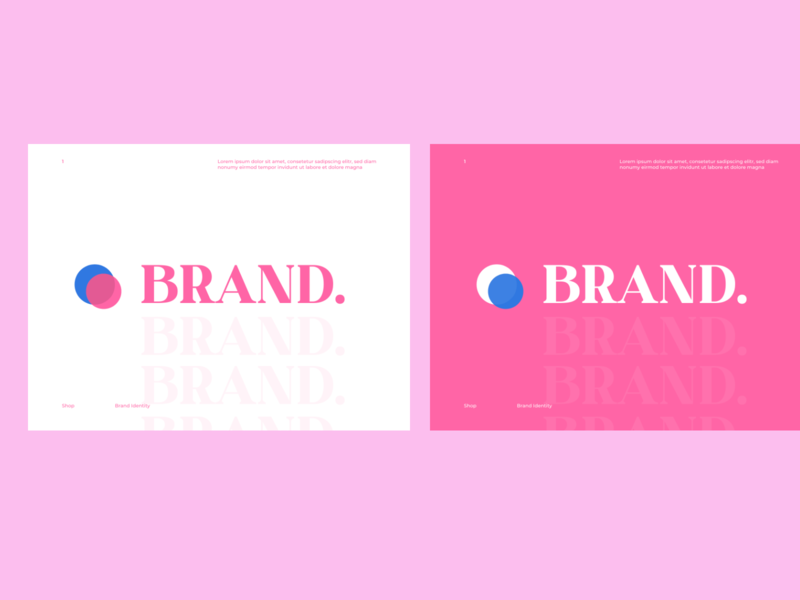 Pink Brand Identity branding white website simple photoshop round pink ui  ux clean brand identity 202 blue