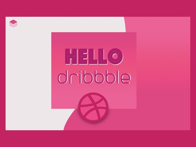 hello dribbble ui art pink welcome hello dribbble
