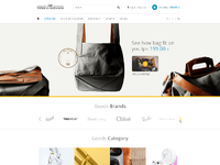 Business gifts web design home page