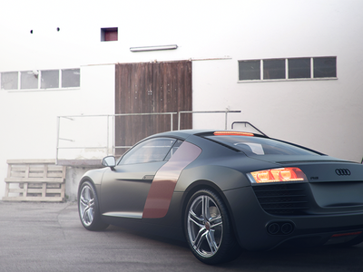 3D Audi R8 Car 3d 3dsmax vray car hdri scene light fog audi r8 rendering photoshop